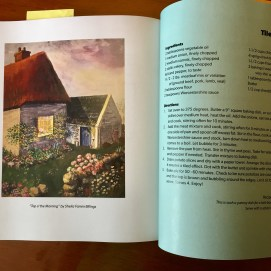 The Artist's Palate. Tiled Cottage Pie recipe with my illustration, Top O' the Morning.