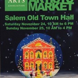 My acrylic painting illustration of Salem's Old Town Hall for the 2018 Salem Arts Association Holiday Artists' Market.