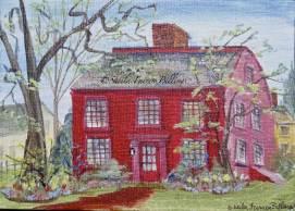 "Nathaniel Hawthorne's Birthplace, acrylic, 5"" x 7"" (Salem, MA)"