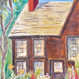 "Gables July Garden, oil, 11"" x 14"" (The House of the Seven Gables, Salem, MA)"