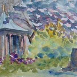 """North Shore Gazebo, watercolor, 5"""" x 7"""""""