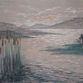 "Sunrise Marsh, pastel, 18"" x 24"""