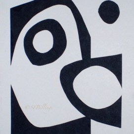 "Black & White, cut paper, 8"" x 10"""