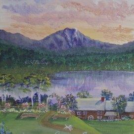 "New Hampshire Inn, acrylic, 8"" x 10"""