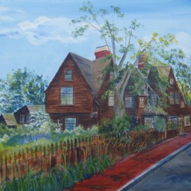 "Turner Street View, acrylic, 18"" x 24"" (The House of the Seven Gables, Salem, MA)"