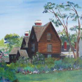 "The House of the Seven Gables July, acrylic, 18"" x 24"" (Salem, MA)"