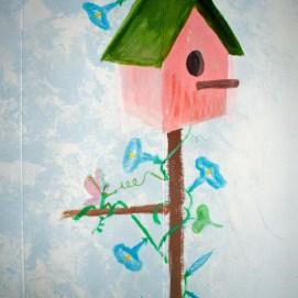 360 degree garden mural for little girls' room, East Boston, MA
