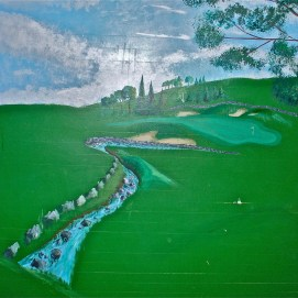 360 mural for Golf Team practice room, Salem State University, O'Keefe Sports Complex, Salem, MA