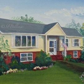 "Pat's House, acrylic, 6"" x 12"" (Danvers, MA)"