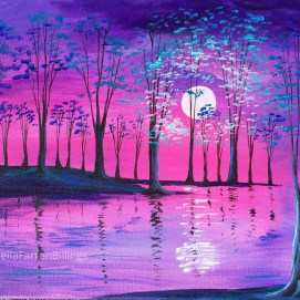"Purple Twilight, acrylic, 16"" x 20"""