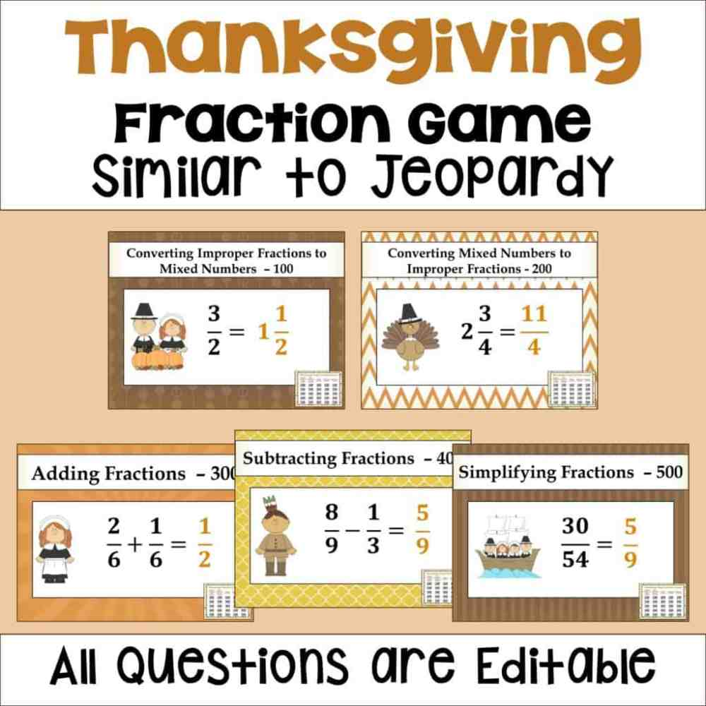medium resolution of Thanksgiving Activities for Upper Elementary Math - Sheila Cantonwine