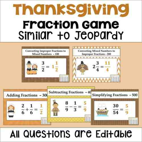 small resolution of Thanksgiving Activities for Upper Elementary Math - Sheila Cantonwine
