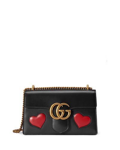 gucci GG marmont heart shoulder bag