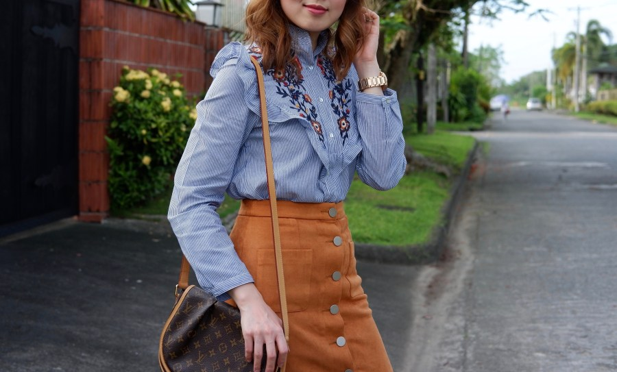 romwe embroidery top