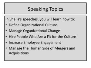 speaking topics