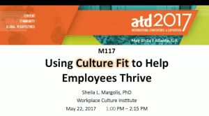 speaking topics- using culture fit to help employees thrive