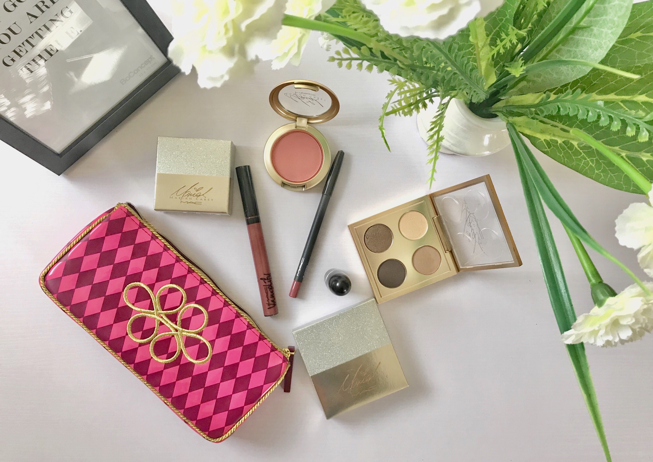 Mac Cosmetics Nutcracker sweet nude lip bag and Mariah Carey collection