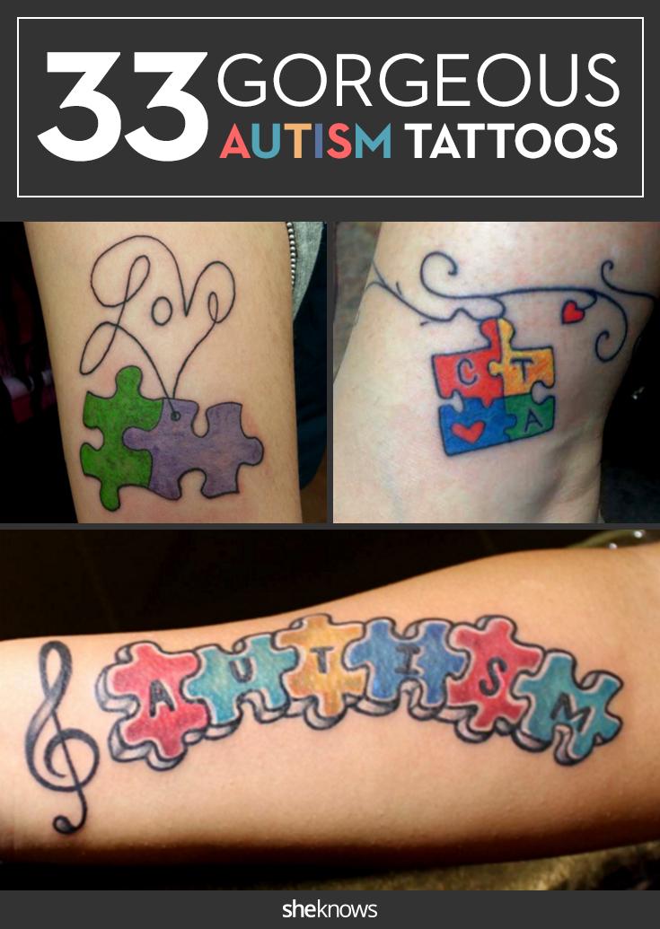 Autism Tattoo Ideas For Son : autism, tattoo, ideas, Beautiful, Tattoos, Bring, Awareness, Autism, SheKnows