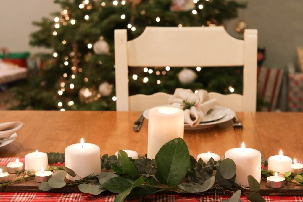 diy christmas table decor