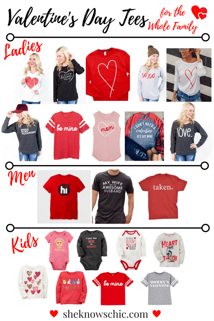 Valentine's Day Tees for the Whole Family