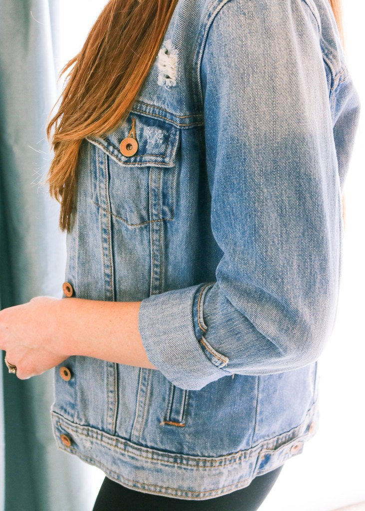 The Best Way To Cuff A Denim Jacket She Knows Chic