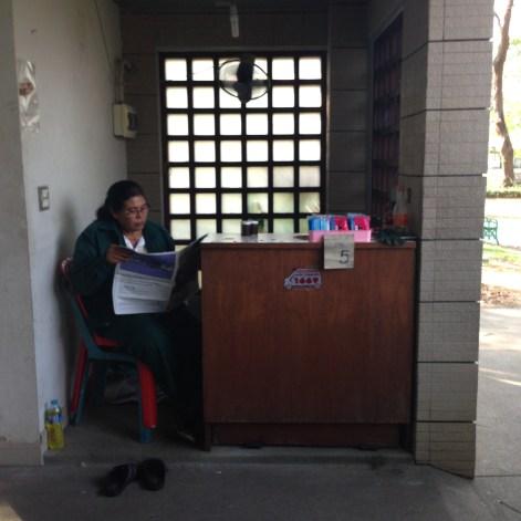 Lumpini Park Attendant Copyright Shelagh Donnelly