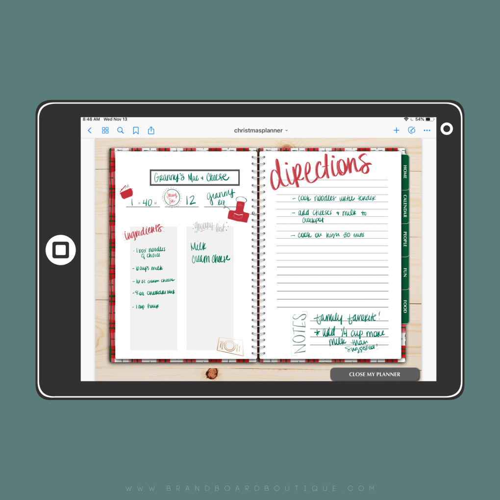 Constantly overwhelmed when the Holidays get here? Let me help you see why a digital Holiday planner might help your family this season!