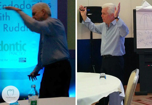 Dr Cliff Ruddle. Lots of energy, lots of arm-waving, very little formality!
