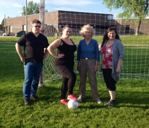 "The cast of ""Secrets of a Soccer Mom"" with their Director Josh Oatman who is making his directing debut. Pictured from left to right are Josh Oatman, Daphey Rodaway, Jean Jardine Miller and Michelle White."