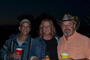 Tim, Connie and Tony enjoy a fabulous barn dance at the McIntyre residence.