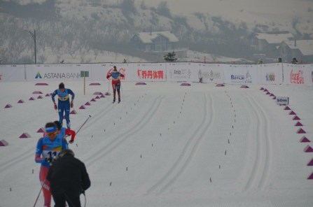 Sprint finish, pushing through the grip!