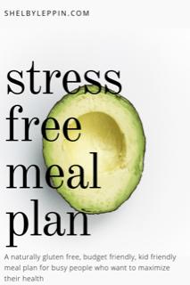 stress free meal plan