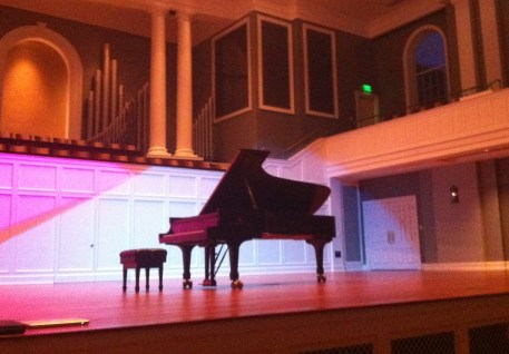 "I performed ""Equinox"" in the McAfee Concert Hall as part of the Student Composers Recital."