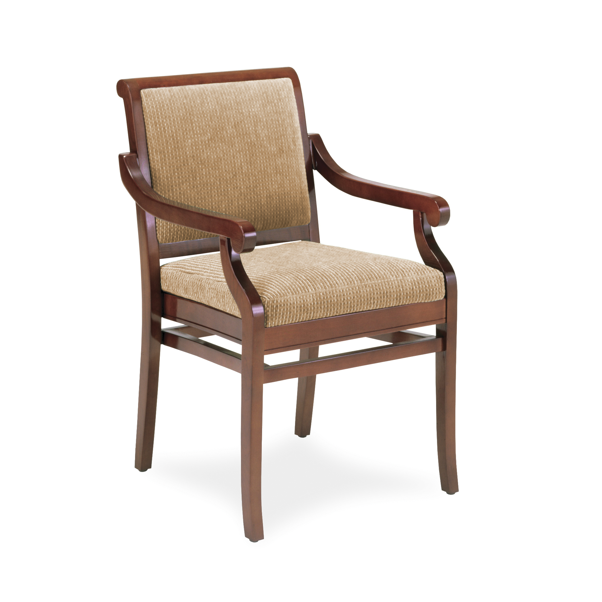 Wood Arm Chair 4012 Stacking Wood Arm Chair