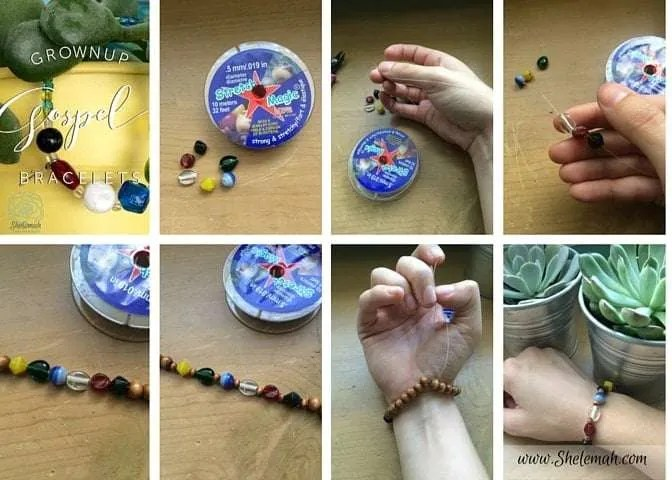 How to make a grown up version of the VBS gospel bracelets