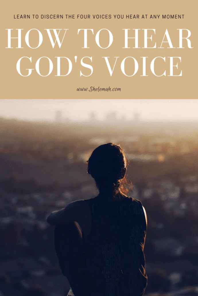 How to hear God's voice. Learn to discern the four voices you may hear at any moment. #spiritualgifts #prophecy