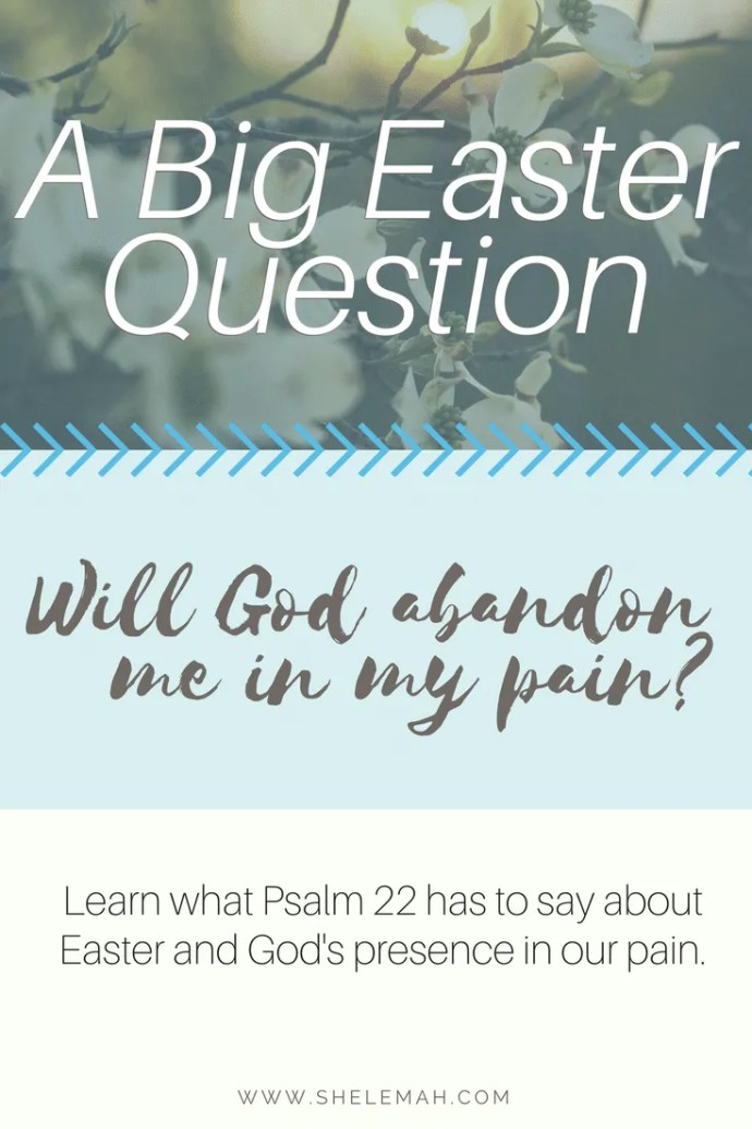 Will God abandon me in my pain? Learn what Psalm 22 has to say about this big Easter question
