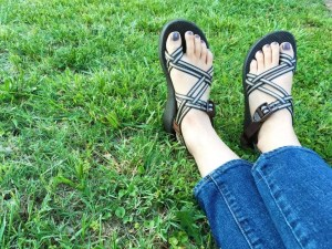 Shelemah chaco feet