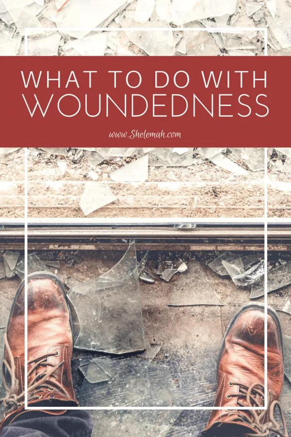 What to do with woundedness. We all have wounds we carry but what we decide to do with those wounds determines if we will experience healing. #emotionalhealing