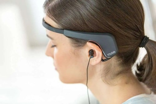 Muse meditation neurofeedback headband