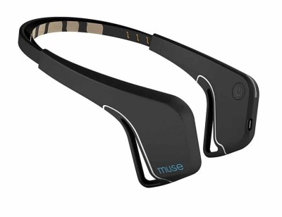 MUSE headband for meditation and neurofeedback