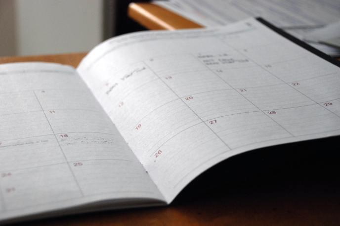a calendar spread in an planner