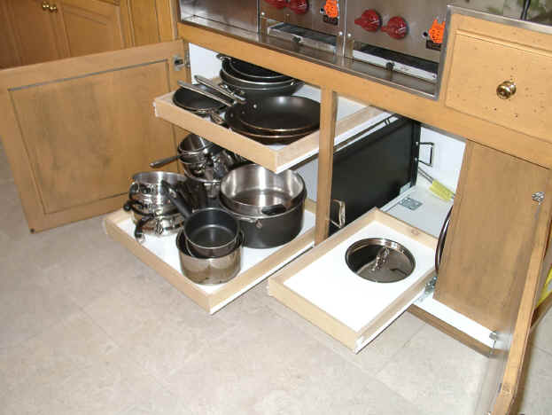 Pull Out Shelves Custom Pull-outs For Your Kitchen Cabinets