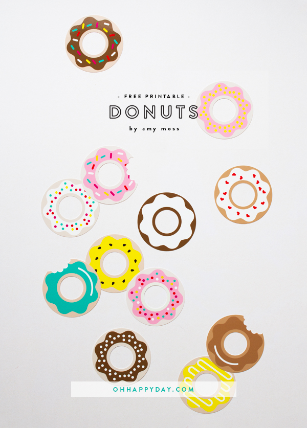 donut printables oh happy day - 600×837