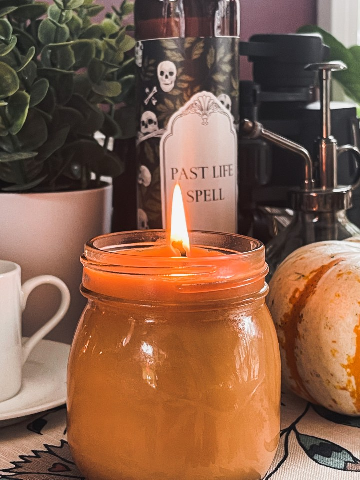 DIY Basic Candle made from Repurposed Wax