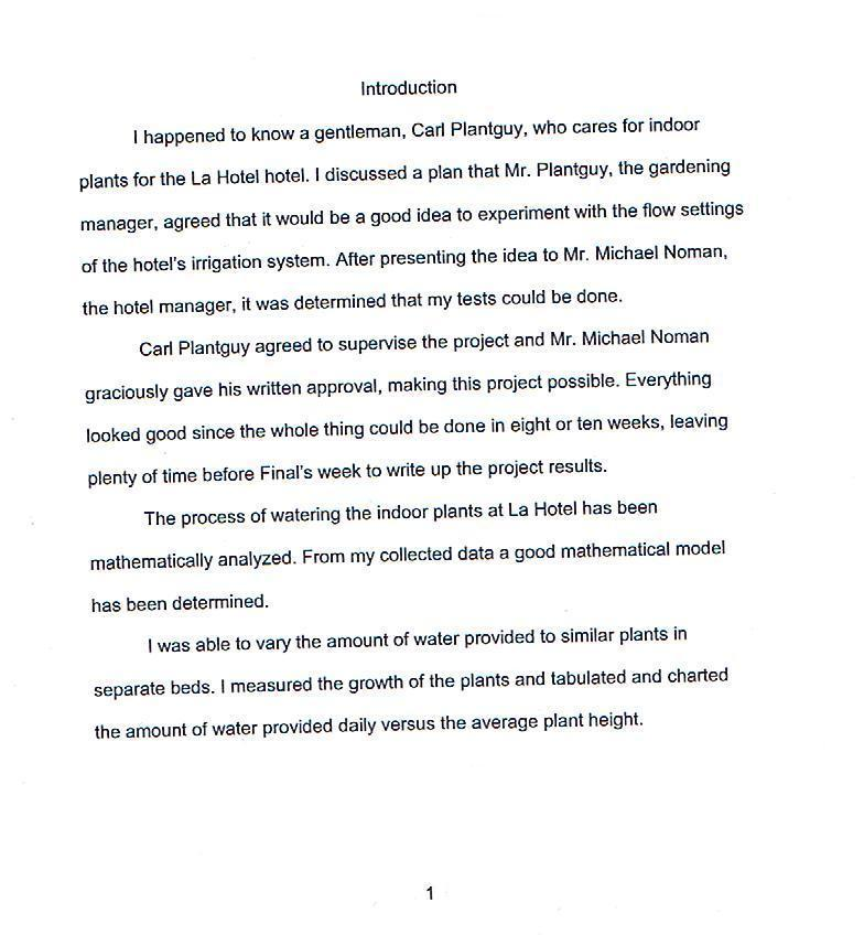 Project Write-up Sample 5
