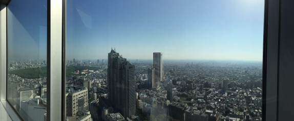 View from the 45th floor of the government building in Shinjuku. Free access all the time, so no need to go to the top of Tokyo Tower or Skytree