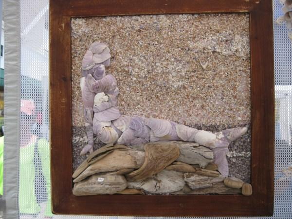 Mosaic Seahorses And Mermaids Shell Design
