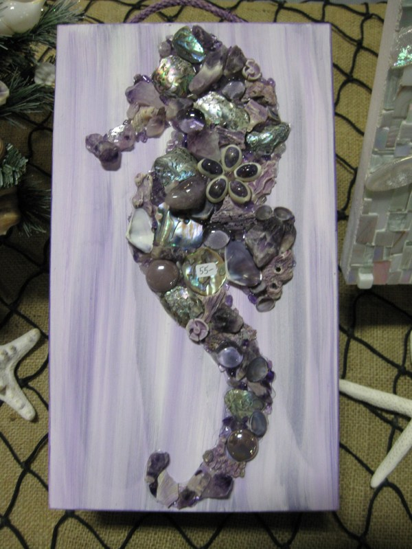 Mosaic Seahorses And Mermaids Shell Design