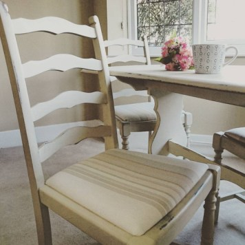 Ochre Dining Table and Four Chairs, £299
